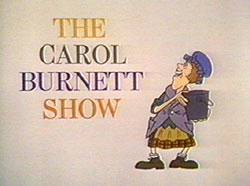 "Title screen showing the Charwoman from CBS ""Carol Burnett Show"""