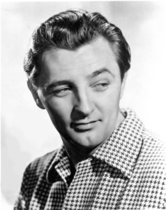 Publicity portrait of actor Robert Mitchum from 1949.
