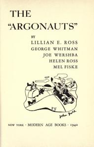 """Title page of """"The Argonauts"""""""