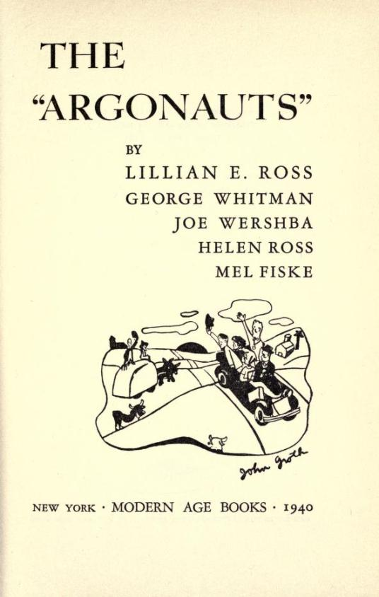 "Title page of ""The Argonauts"""