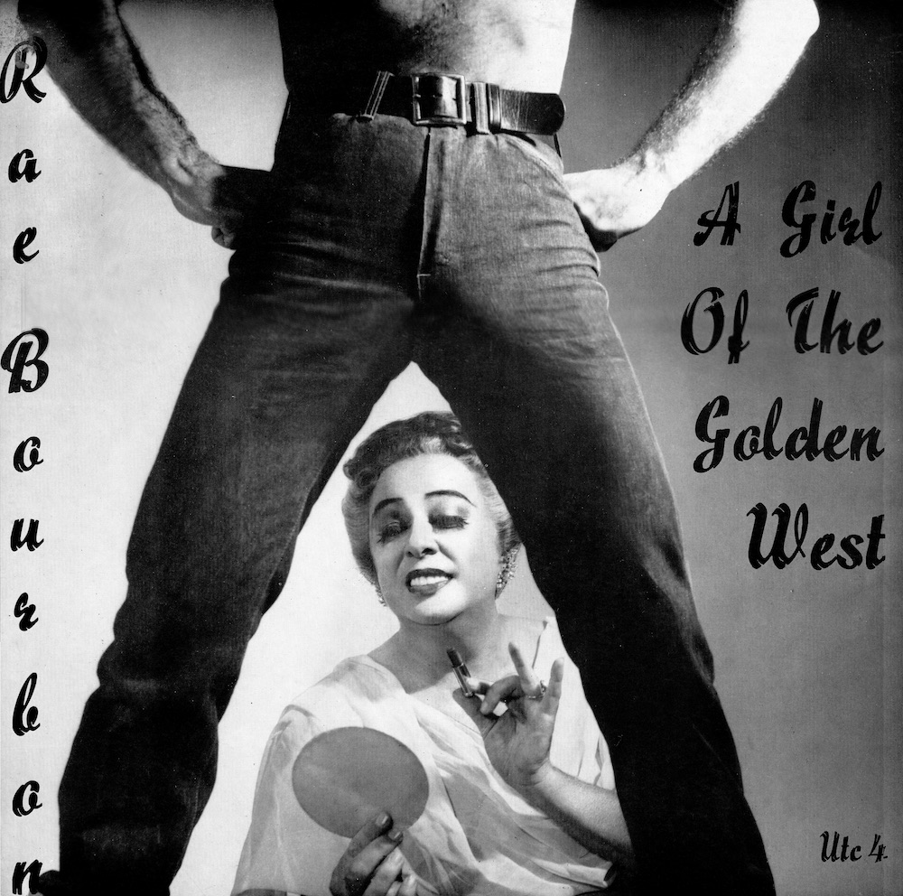 "Cover of Ray Bourbon album ""A Girl of the Golden West"" featuring Ray and a cowboy"