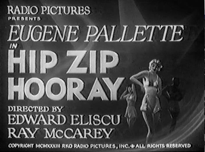 """Title slide for """"Hip, Zip Hooray"""""""